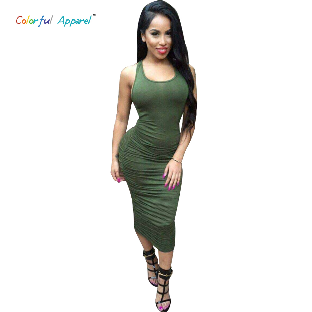 Colorful Apparel Summer Style Women Cotton Dresses Long Pleated Top Sexy Bandage Casual Vest Dresses Maxi Plus Size CA99A(China (Mainland))