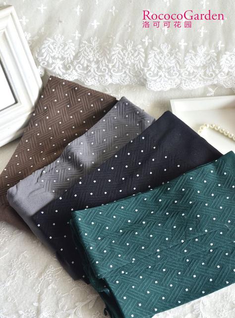 Polka dot stripe female lace vintage jacquard pantyhose