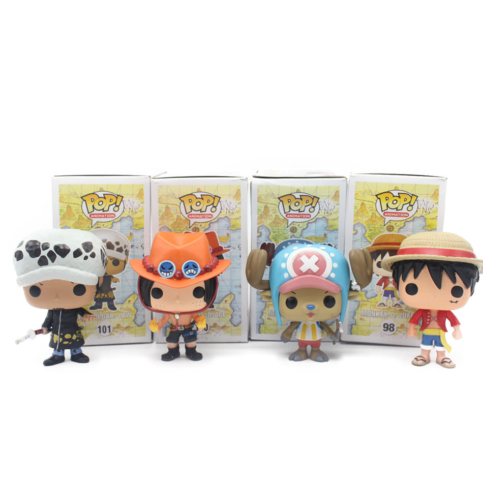 Funko POP Mini One Piece Anime Luffy Chopper Ace Law Vinyl PVC Collection Action Figure Model PVC Kids Toys(China (Mainland))