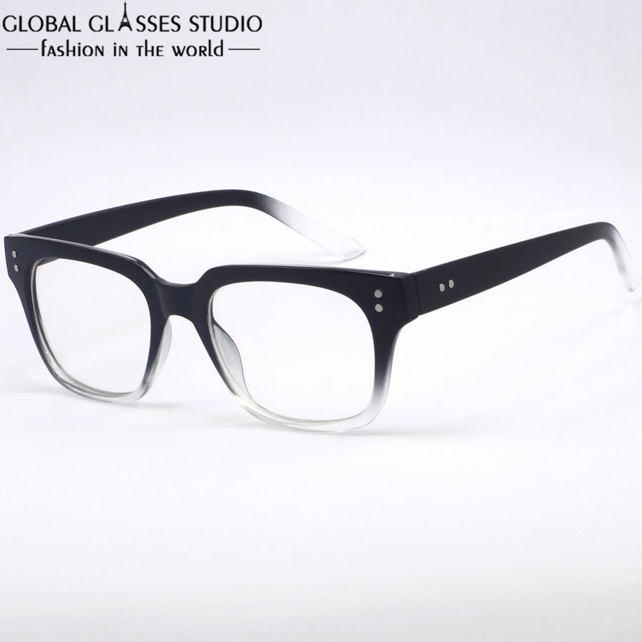 ultralight fashion women men large square frame glasses unisex black transplant color eyelasses for