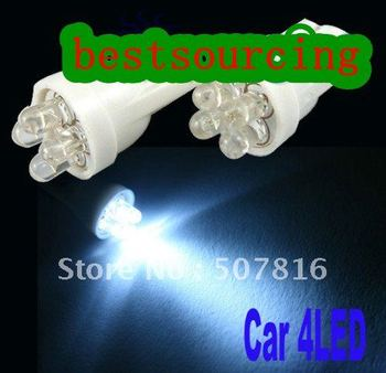 free shipping  wholesale 100pcs/lot T10 4 LED Car 194 168 192 W5W car Light Automobile Bulbs Lamp special offer