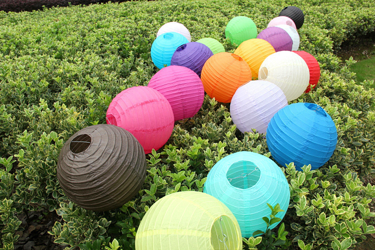 8 inch/20cm Round Paper lantern Lamps Festival Party Wedding Birthday Christmas Event Decoration Chinese Paper Lanterns 600pcs(China (Mainland))