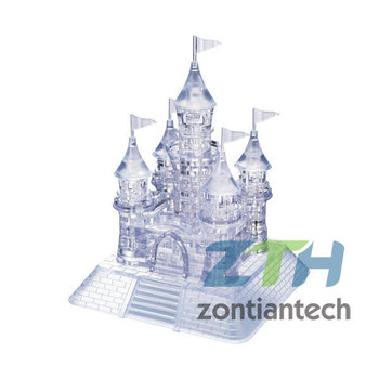 Free Shipping Light  Castle Puzzle,3D Crystal  Puzzle Decoration Castle Puzzle IQ Gadget Hobby Toy Gift