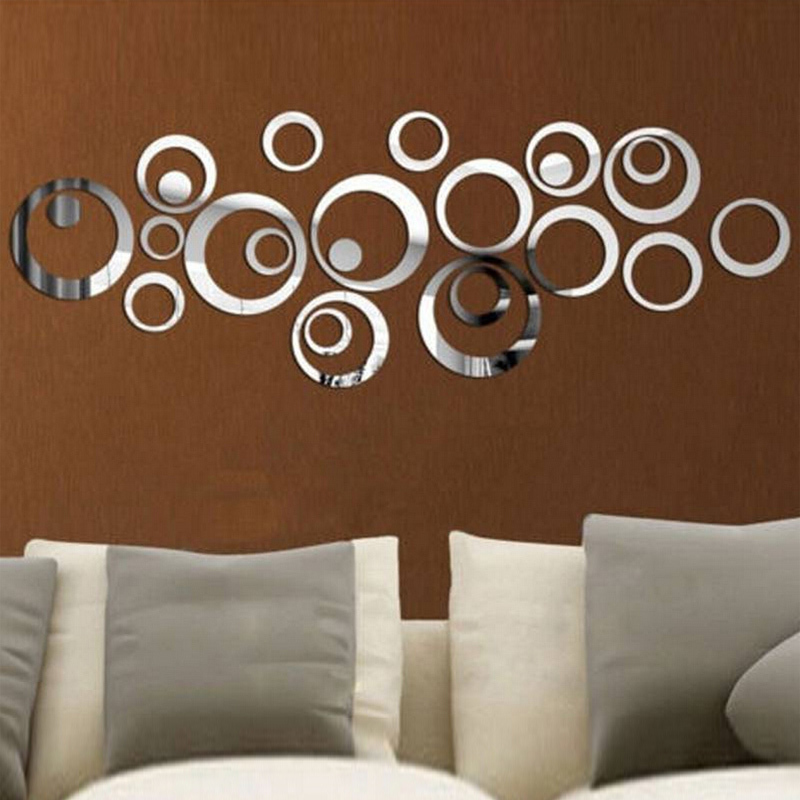 2015 new 3d diy acrylic mirror wall stickers home decor sticker most modern plastic pack nine sale vinilos paredes free shipping(China (Mainland))