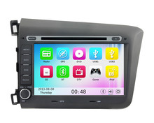 Wince 6.0 MT3360 3G WIFI HD 1080P Car DVD Player GPS Navigation System Radio Stereo For Honda CIVIC 2012 2013 2014