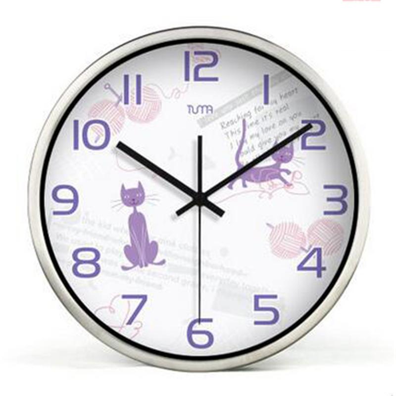 L gant horloge murale promotion achetez des l gant for Grande horloge murale moderne