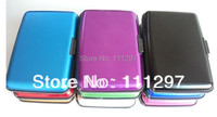 Free  Shipping 200pcs 9 colours Aluminum Wallet As Seen On TV Credit Card Holder