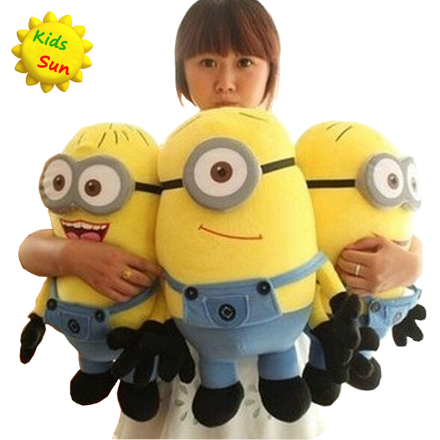 2016 Big Size 50CM Minions Plush Toys Despicable Me 2 Movie Baby Kids 20Inch Minion Toys & Hobbies Christmas Birthday Gift 1pcs
