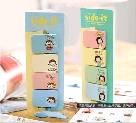 Korea stationery sticker  biscuits girl sticky pad (KB-11)