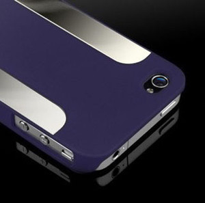 New Luxury Hard Back Cover Case for Apple iPhone 4 4G 4S Blue DF02