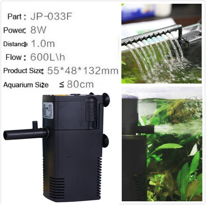 8w ultra quiet aquarium filters 600l h fish tank oxygen for Quiet fish tank filter