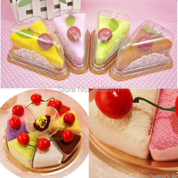 Fashionable Lovely Durable Household Decoration Sandwich Shape Cake Ornament Towel Present CA1T