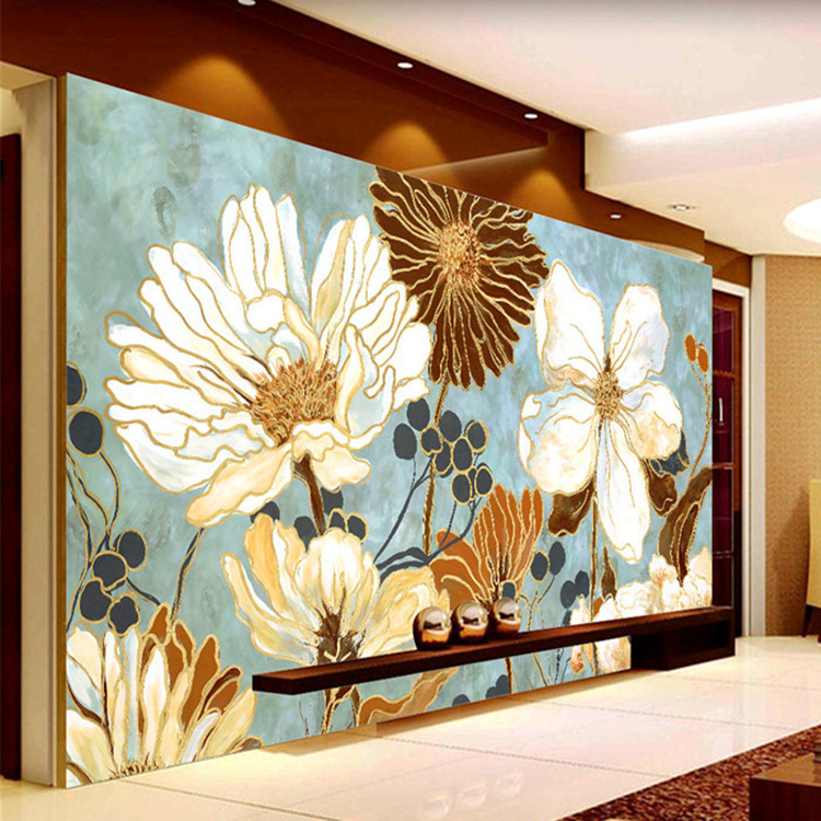vintage 3d wallpaper painting flowers wall murals custom photo wallpaper kid bedroom kitchen art room decor shop interior design - Shop Bedroom Decor