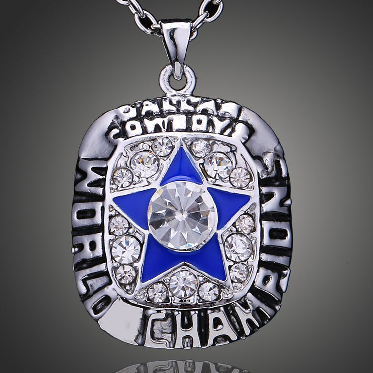 Souvenir Jewelry 1971 Dallas Cowboys Jersey Super Bowl Championship Necklace Fashion Pendant Statement Necklace Fans Sports Gift(China (Mainland))