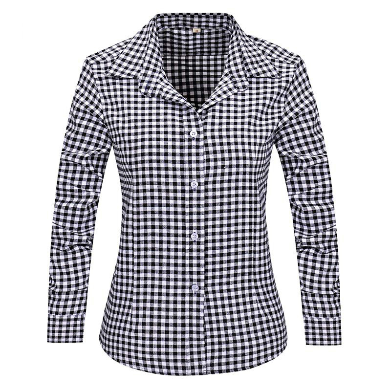 2016 plaid women shirts female big sizes long sleeve for Flannel checked long sleeve shirt