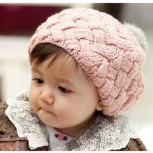 2015 automne nouveau bébé chapeau bébé enfants accessoires Photo Beanie Faux fourrure de lapin Gorros Bebes bouchon Crochet Beanie bébé de filles(China (Mainland))