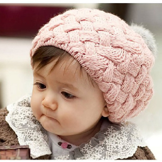 2015 Autumn New Baby Hat Kids Baby Photo Props Beanie Faux Rabbit Fur Gorros Bebes Crochet Beanie Toddler Cap For Girls(China (Mainland))