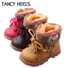 NEW Kids Snow Boots for Winter Baby Cute Man-Made Fur  Martin Boots for Boys and Girls Kids Shows Size 13-15cm  064(China (Mainland))