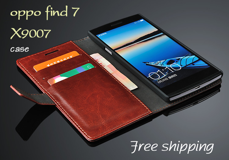Luxury flip leather case oppo find 7 x9007 cell phone cases Protective sleeve cover - Guangzhou SUK Trading Co.,Ltd store