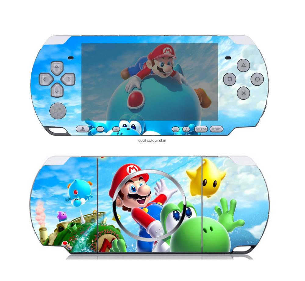 Super Mario Galaxy 114 Vinyl Skin Sticker Protector for Sony PSP 3000 skins Stickers for PSP3000(China (Mainland))