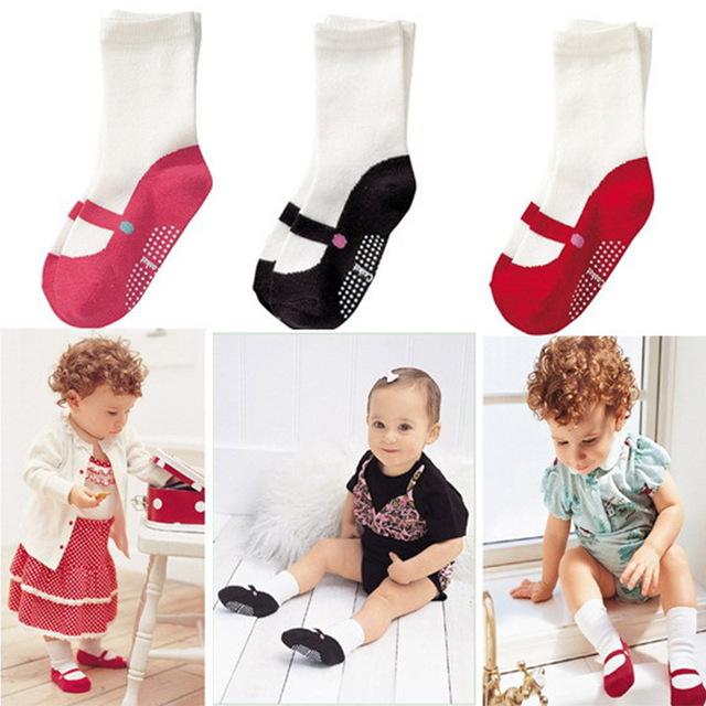 3 цветов детские летние носки симпатичный мини носки-ребенок обувь дети non-slip ...