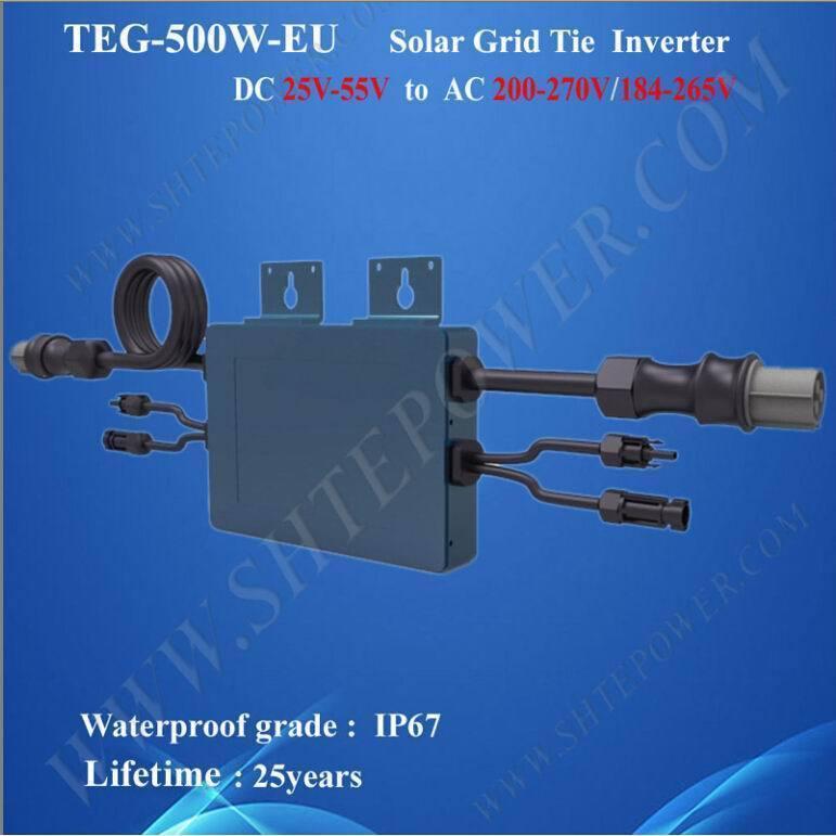 Streamline design mppt solar grid tie 48v 220v 500w waterproof inverter(China (Mainland))