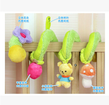FreeShipping!Brand new Cute Spiral Activity - Stroller Car Seat Cot Babyplay Travel Toys newborn Baby Rattles Toy child rattle(China (Mainland))