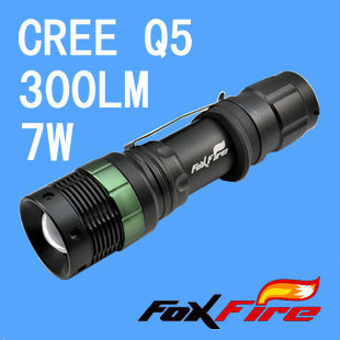 Mini LED Torch 7W 300LM CREE Q5 LED Flashlight Adjustable Focus Zoom flash Light Lamp free shipping