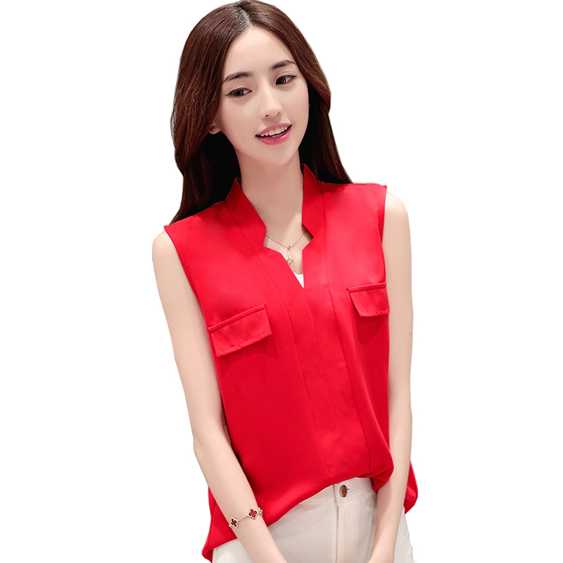 how to wear sleeveless chiffon blouse