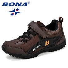 BONA חדש עיצוב סגנון ילדי ספורט נעלי בני אביב דעיכת Outsole Slip טלאים לנשימה ילדים סניקרס נעלי ריצה(China)