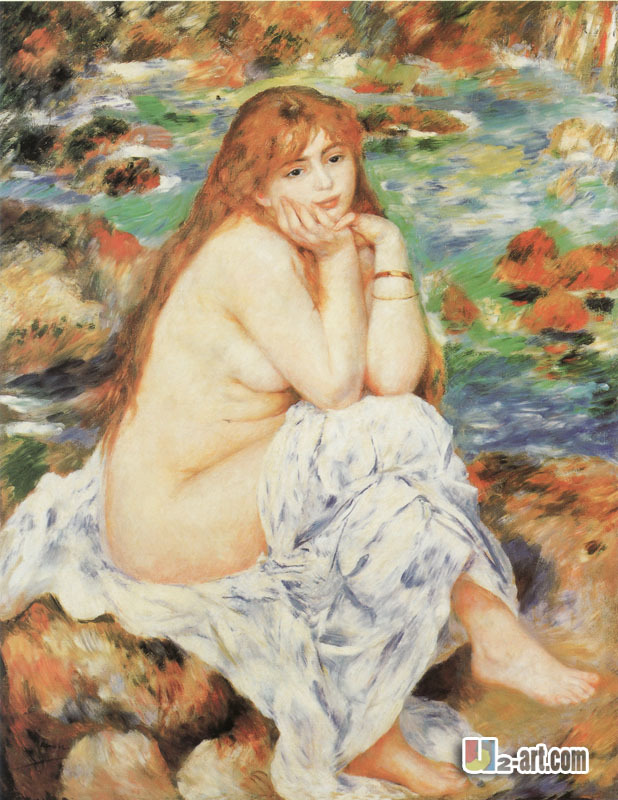 Hot sell canvas prints of nude woman by Auguste Renoir famous and meaning oil paints wall decoration(China (Mainland))