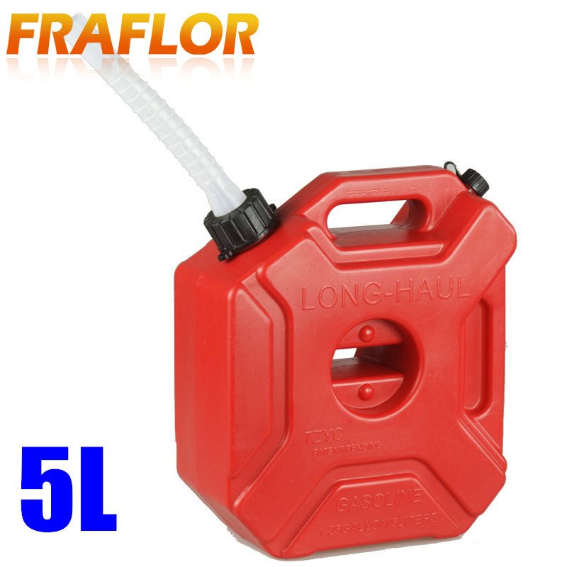 Practical 5L Gasoline Diesel Fuel Tank Can Pack For Offroad SUV ATV Motorcycle Antistatic Spare Plastic Oil Fuel Tank Container