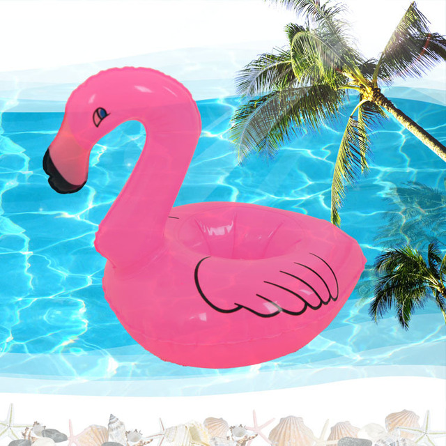 Red Flamingo Floating Inflatable Can Holder