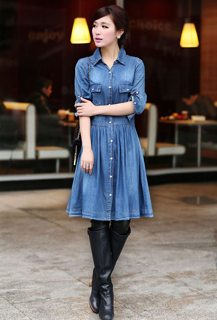 Elegant Blue Jean Dresses For WomenBuy Cheap Blue Jean Dresses For Women