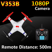 WLtoys V353B 4CH 6-Axis Gyro RC Quadcopter with Headless Mode Drone Remote Distance 500M WL V353B RTF Update version of V353