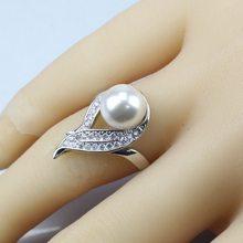 Spezielle Preis 925 Silber Frauen Hochzeit Schmuck Sets Natürliche Perle Weiß Zirkon Ohrringe/Anhänger/Halskette/Ring/ armband(China)