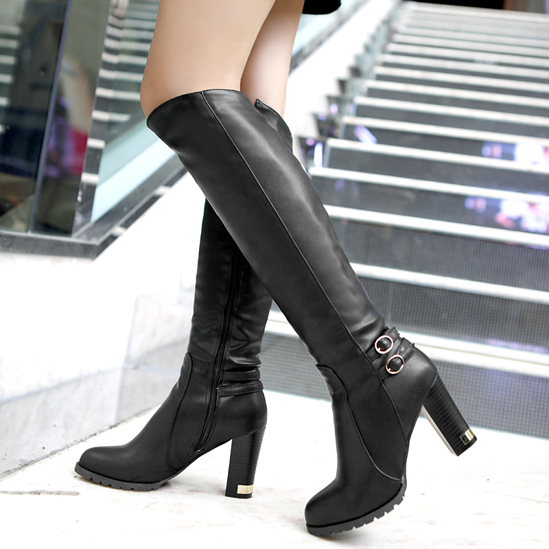 Drop Shipping 2013 New Hot Fashion Sexy Ladies' Boots Women Knee High