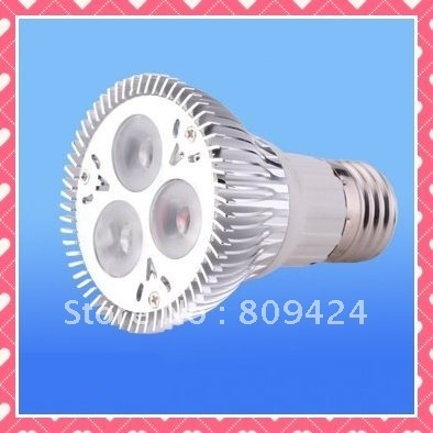 Wholesales,FREE SHIPPING 3X3W UL PAR20 LED(Epistar, Dimmable),Warm white 120VAC
