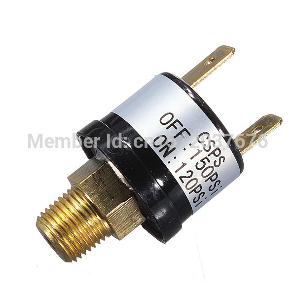 High Quality 12V 3.5A Trumpet Train Horn Air Compressor Pressure Switch Rated 120 to 150 PSI Free shipping(China (Mainland))