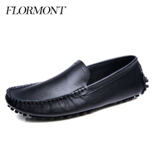 FLORMONT Spring Men Flats Genuine Leather Sapatos Masculino Summer Driving Tods Shoes Men Loafers Male Moccasin Men Casual Shoes(China (Mainland))