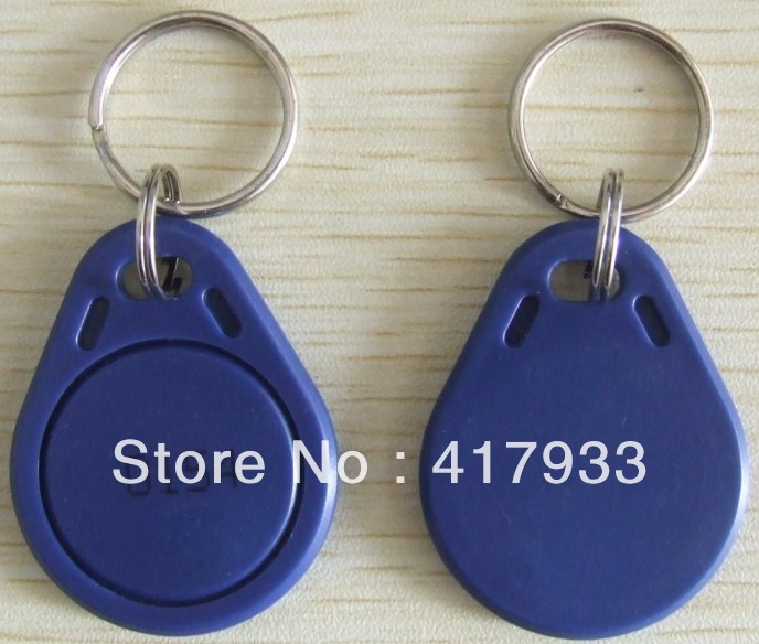 100pcs/lot of access control proximity rfid smart keytag for 13.56 MHz ISO15693 I code 2  keyfob with card number gray  color<br><br>Aliexpress
