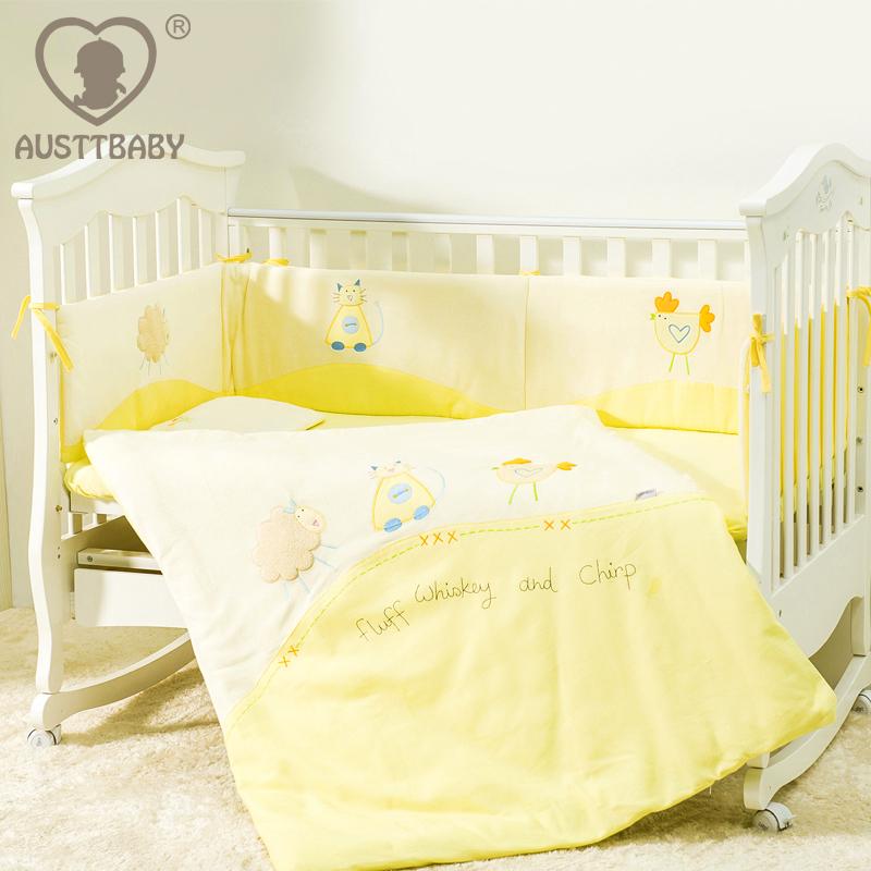 100% cotton multifunctional sleeping bag 4 piece set baby cot bedding sets  baby crib bedding set <br><br>Aliexpress