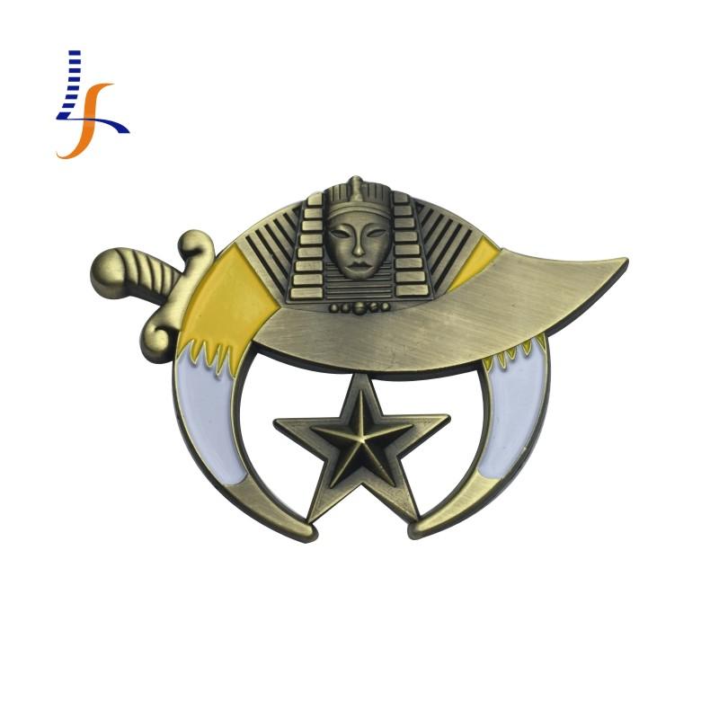 Antique Bronze Cut Out Shriner Auto Car Emblem(China (Mainland))