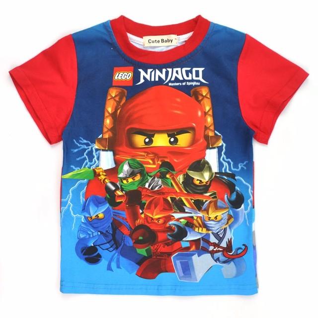 Мальчики одежда ninjago рубашки для мальчика 2015 новая мода высокого качества лето ...