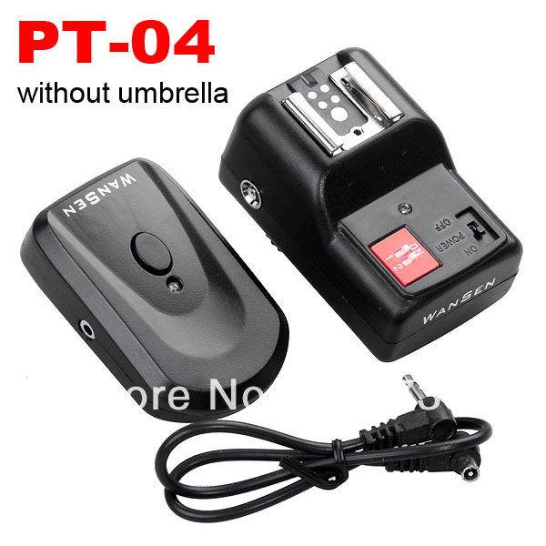 Free shipping Camera new PT-04GY PT04 4 Channels Wireless/Radio Flash Trigger Sync Speed 1/250s WITH receiver(China (Mainland))
