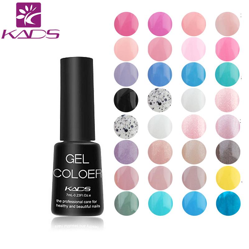 KADS 7ml LED UV Nail Gel Long Lasting Gel Lacquer DIY Nail Art Colorful Nail Gel UV Gel Set UV LED Lamp Curing(China (Mainland))