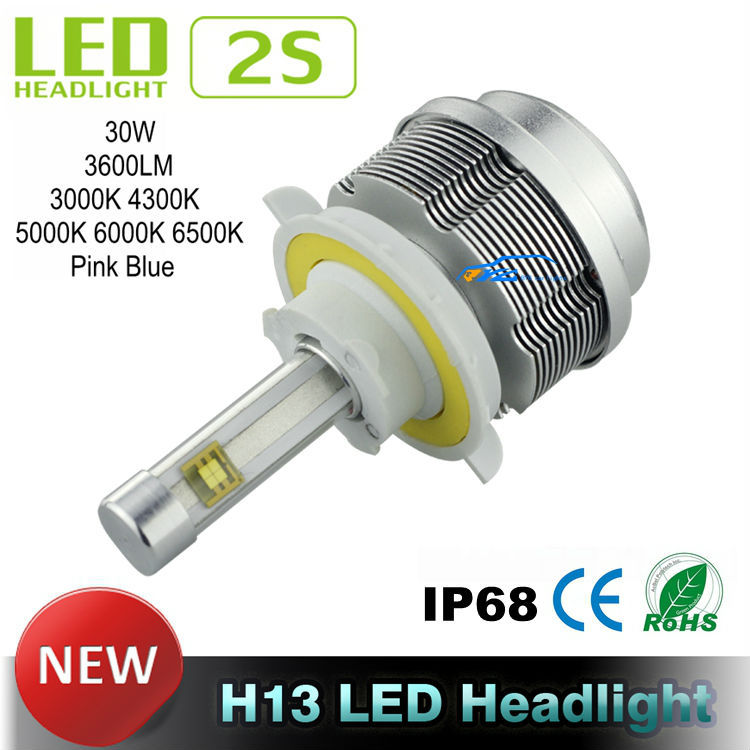 Gen 2S LED Car Headlights All in one Car LED Headlight CREE ETI Flip Chips H13 LED Headlight Hi Lo 30W 3600LM 4300K 5000K 6000K