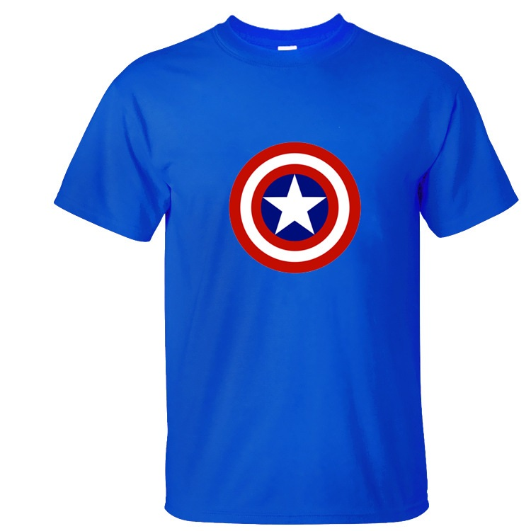 High quality cotton captain america printed t shirt men for Good quality cotton t shirts