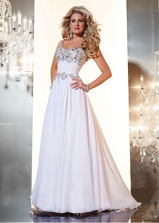 Beautiful White Applique Beadings Modest Prom Dresses Sleeves Specional Occasional Dress Long Evening Gowns - FashionLive store