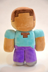 "Fashion Children Soft Plush Toy Brown 18cm/7"" Minecraft Steve Zombie Ghost Doll Xmas Gift GAME"
